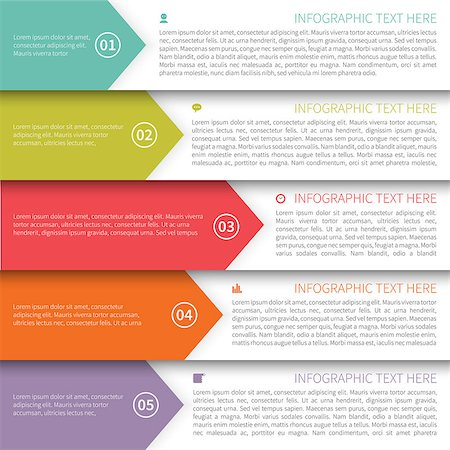 Modern Minimalistic Multicolor Infographics Template. Stock Photo - Budget Royalty-Free & Subscription, Code: 400-07411698