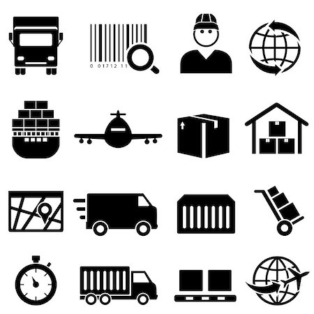 soleilc (artist) - Shipping and cargo icon set Stock Photo - Budget Royalty-Free & Subscription, Code: 400-07412242
