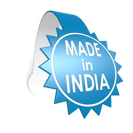 Made in India star label Stock Photo - Budget Royalty-Free & Subscription, Code: 400-07413325