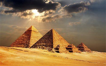 giza pyramids, cairo, egypt Stock Photo - Budget Royalty-Free & Subscription, Code: 400-07424455