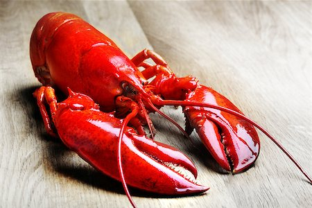 Red Lobster on wood Stock Photo - Budget Royalty-Free & Subscription, Code: 400-07424609