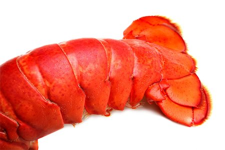 Lobster tail on white background Stock Photo - Budget Royalty-Free & Subscription, Code: 400-07424616