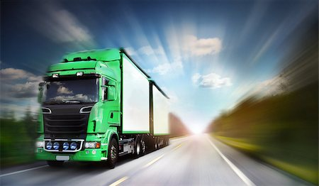 truck on freeway, blurred motion Stock Photo - Budget Royalty-Free & Subscription, Code: 400-07424703