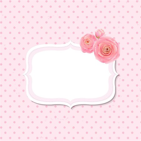 Pink Rose Label, With Gradient Mesh, Vector Illustration Stock Photo - Budget Royalty-Free & Subscription, Code: 400-07425211