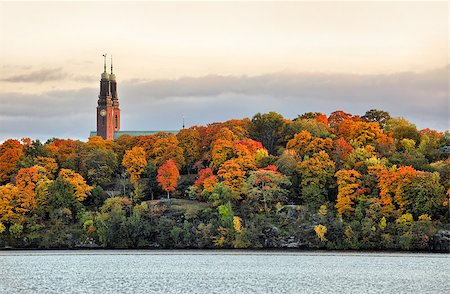 Twin towers of Hogalid Church in Stockholm Stock Photo - Budget Royalty-Free & Subscription, Code: 400-07425295