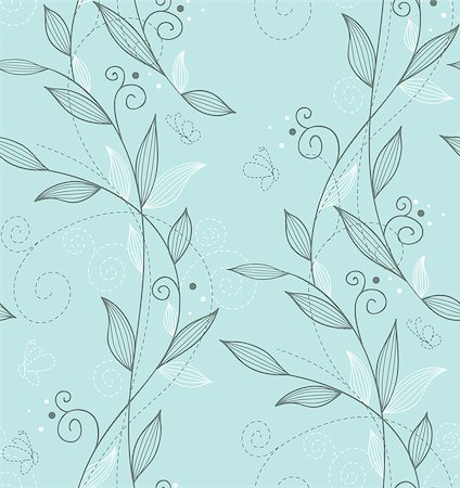 Vector illustration of Seamless floral pattern Stock Photo - Budget Royalty-Free & Subscription, Code: 400-07425647