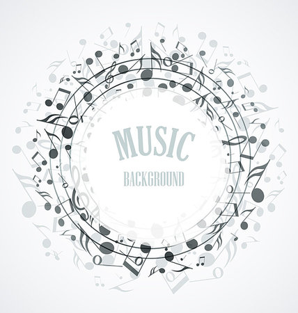 Decoration of musical notes in the shape of a circle Stock Photo - Budget Royalty-Free & Subscription, Code: 400-07427015
