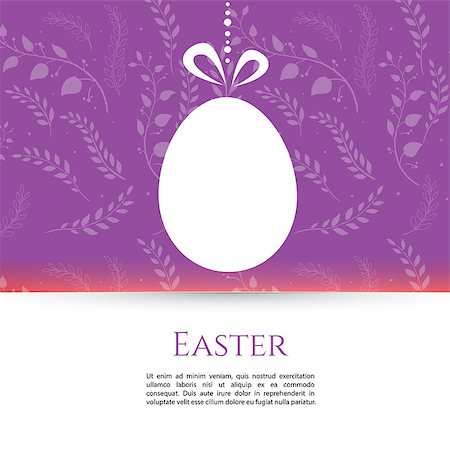 funky flower designs - Vector illustration of Easter design template eps 10 Stock Photo - Budget Royalty-Free & Subscription, Code: 400-07427400