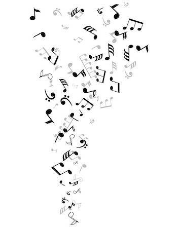 vector musical notes background Stock Photo - Budget Royalty-Free & Subscription, Code: 400-07428544
