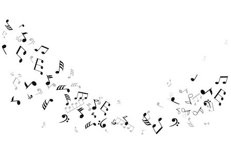 vector musical notes background Stock Photo - Budget Royalty-Free & Subscription, Code: 400-07428545