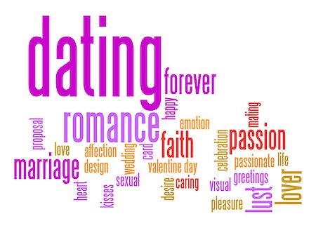 people mating - Dating word cloud Stock Photo - Budget Royalty-Free & Subscription, Code: 400-07420221