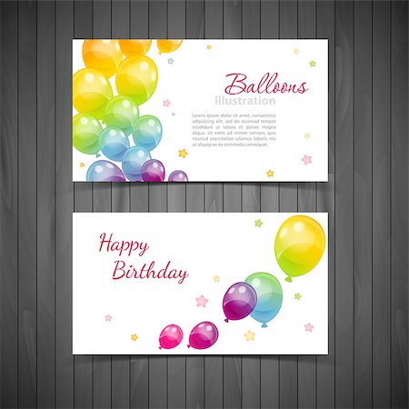 Vector illustration (eps 10) of Background with colorful balloons Stock Photo - Budget Royalty-Free & Subscription, Code: 400-07450380
