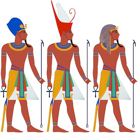 Vector illustration of ancient Egypt Pharaoh three pack. Stock Photo - Budget Royalty-Free & Subscription, Code: 400-07464288