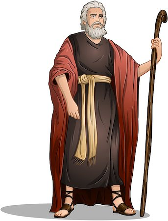 Vector illustration of Moses standing for Passover. Stock Photo - Budget Royalty-Free & Subscription, Code: 400-07464290