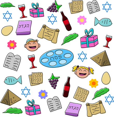 Vector illustration pack of Passover symbols and icons. Stock Photo - Budget Royalty-Free & Subscription, Code: 400-07464292