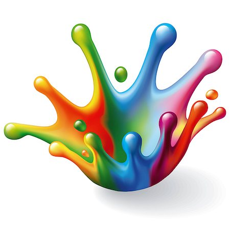 drop painting splash - Color Splash on White Background. Vector Illustration Stock Photo - Budget Royalty-Free & Subscription, Code: 400-07464809