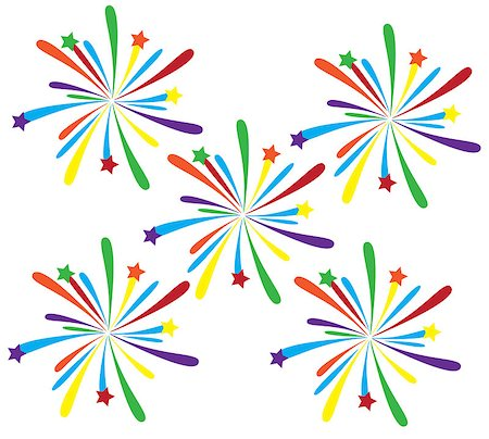 vector fireworks Stock Photo - Budget Royalty-Free & Subscription, Code: 400-07462449