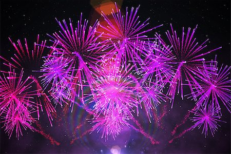 pink and purple fireworks - Digitally generated firework design in purple Stock Photo - Budget Royalty-Free & Subscription, Code: 400-07477094
