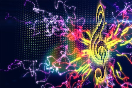 Digitally generated music background in different colours Stock Photo - Budget Royalty-Free & Subscription, Code: 400-07477109