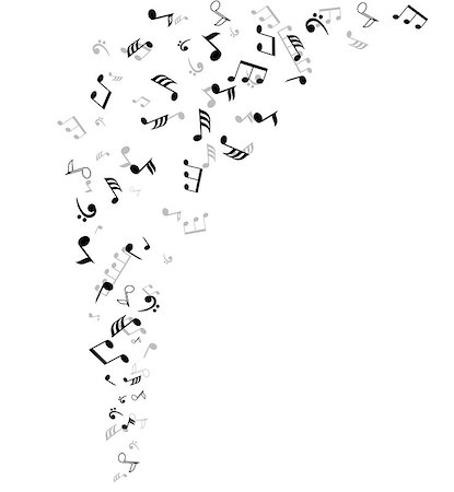 vector musical notes background Stock Photo - Budget Royalty-Free & Subscription, Code: 400-07478599