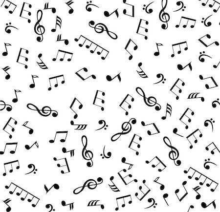 vector musical notes background Stock Photo - Budget Royalty-Free & Subscription, Code: 400-07478600