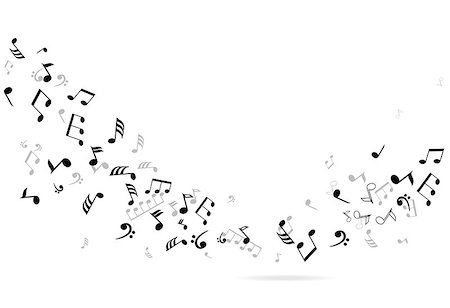 vector musical notes background Stock Photo - Budget Royalty-Free & Subscription, Code: 400-07478601