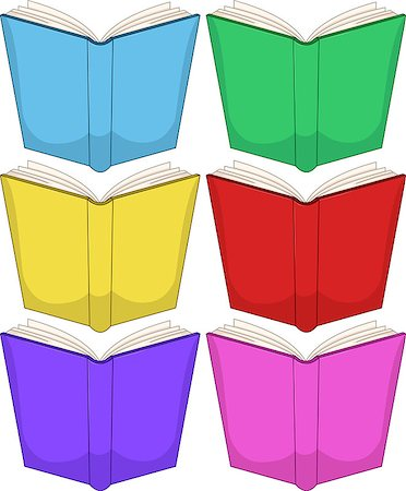 Vector illustration of colorful books pack. Stock Photo - Budget Royalty-Free & Subscription, Code: 400-07471021