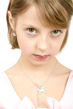 Studio portrait of young beautiful girl with nice eyes on white background Stock Photo - Budget Royalty-Free & Subscription, Code: 400-07481131