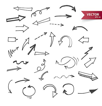drawn curved - Vector illustration (eps 10) of Arrows Stock Photo - Budget Royalty-Free & Subscription, Code: 400-07507251