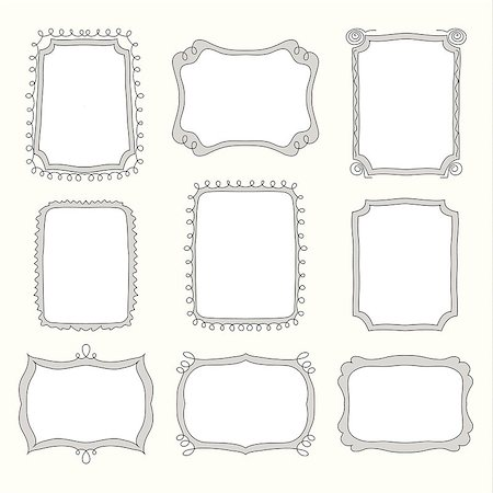 vector Set of doodle frames and different elements Stock Photo - Budget Royalty-Free & Subscription, Code: 400-07509015