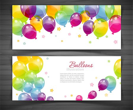 Vector illustration (eps 10) of Background with colorful balloons Stock Photo - Budget Royalty-Free & Subscription, Code: 400-07501912