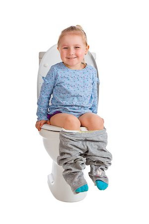 the little girl is sitting on toilet Stock Photo - Budget Royalty-Free & Subscription, Code: 400-07515439