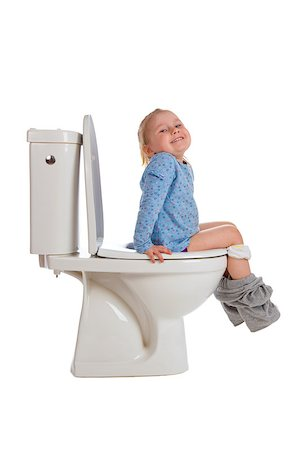 the little girl is sitting on toilet Stock Photo - Budget Royalty-Free & Subscription, Code: 400-07515443