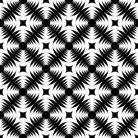 simsearch:400-04476890,k - Design seamless monochrome geometric cross pattern. Abstract textured background. Vector art Stock Photo - Budget Royalty-Free & Subscription, Code: 400-07516424