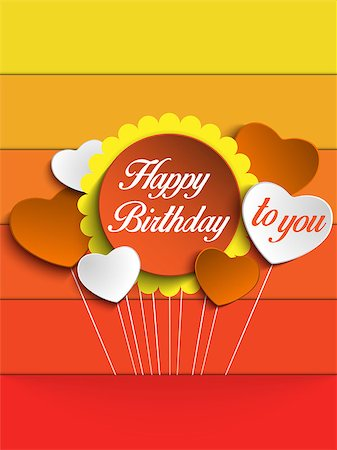 fun happy colorful background images - Vector - Happy Birthday Colorful Background Card Stock Photo - Budget Royalty-Free & Subscription, Code: 400-07516723