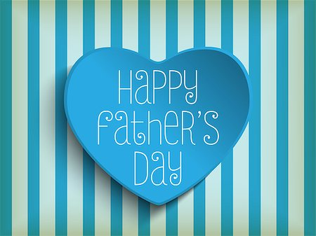 Vector - Happy Fathers Day Blue Heart Background Stock Photo - Budget Royalty-Free & Subscription, Code: 400-07518566