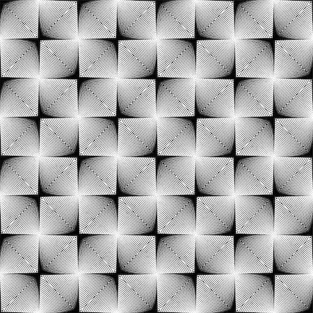 simsearch:400-04476890,k - Design seamless square trellised pattern. Abstract geometric monochrome background. Speckled texture. Vector art Stock Photo - Budget Royalty-Free & Subscription, Code: 400-07518639