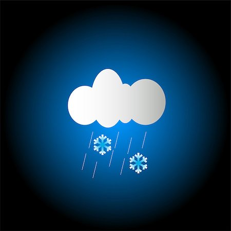 Weather concept of the cloud with rain and snow Stock Photo - Budget Royalty-Free & Subscription, Code: 400-07510346