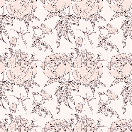 Elegant floral wallpaper - seamless pattern Stock Photo - Budget Royalty-Free & Subscription, Code: 400-07510594