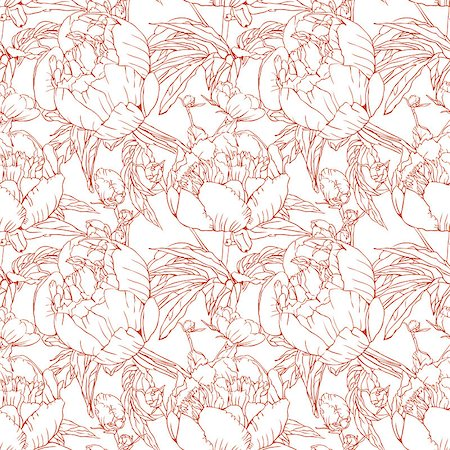 Elegant floral wallpaper - seamless pattern Stock Photo - Budget Royalty-Free & Subscription, Code: 400-07510841