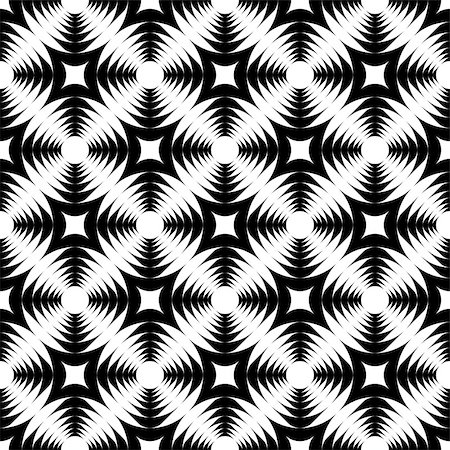 simsearch:400-04476890,k - Design seamless monochrome geometric cross pattern. Abstract textured background. Vector art Stock Photo - Budget Royalty-Free & Subscription, Code: 400-07513091