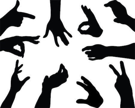 Silhouettes  of hands, vector Stock Photo - Budget Royalty-Free & Subscription, Code: 400-07545007