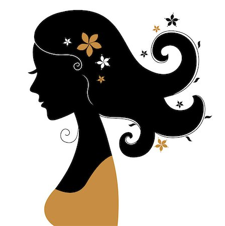 Vintage woman silhouette. Vector Illustration Stock Photo - Budget Royalty-Free & Subscription, Code: 400-07545025