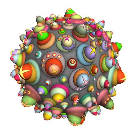 pinball - 3d techno ball in multiple color on white Stock Photo - Budget Royalty-Free & Subscription, Code: 400-07545470
