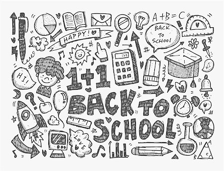 students learning cartoon - seamless school pattern Stock Photo - Budget Royalty-Free & Subscription, Code: 400-07546475