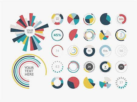 Infographic Elements.Pie chart set icon. Stock Photo - Budget Royalty-Free & Subscription, Code: 400-07546477
