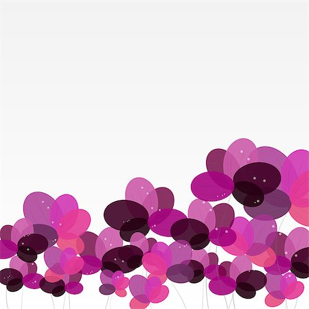 Abstract background with Flowers. Vector Illustration. EPS10 Stock Photo - Budget Royalty-Free & Subscription, Code: 400-07549393