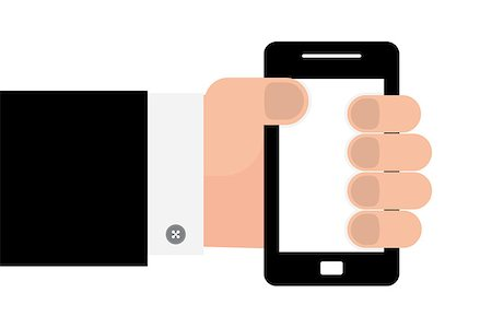 Smartphone in hand template for web and mobile applications, vector Stock Photo - Budget Royalty-Free & Subscription, Code: 400-07549797