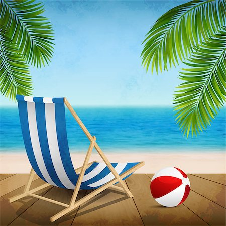 Vector illustration of a summer vacation on the beach Stock Photo - Budget Royalty-Free & Subscription, Code: 400-07555283