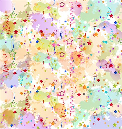 simsearch:400-04369855,k - Illustration confetti holiday background, grunge colorful backdrop - vector Stock Photo - Budget Royalty-Free & Subscription, Code: 400-07551412